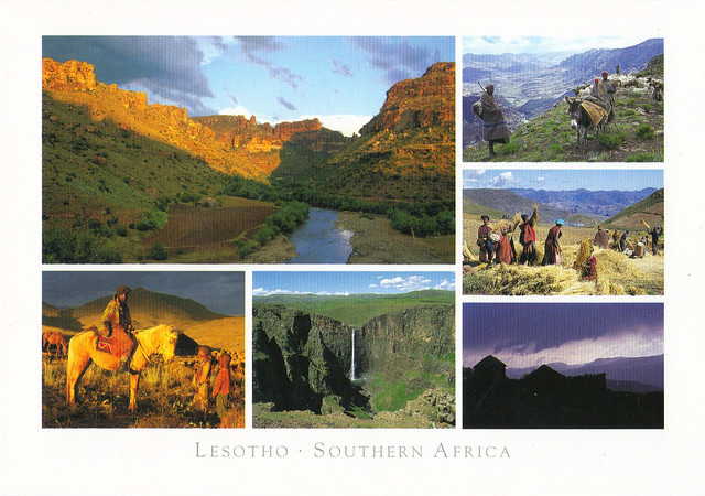 Lesotho Multi-view Postcard