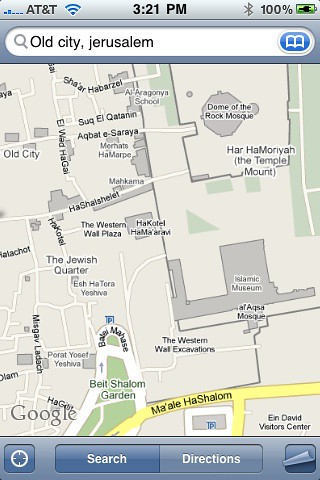 Google Maps Israel for iPhone Street Level | iPhone coming t ... on mapquest israel, youtube israel, google earth israel, world map israel, we love israel, kibbutz israel, azotus israel, bible map judah and israel, harpercollins israel, driving directions in israel, map of israel, fotos de israel,
