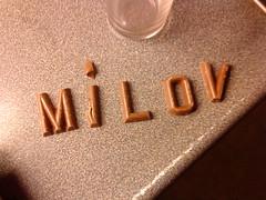 mini chocolate letters