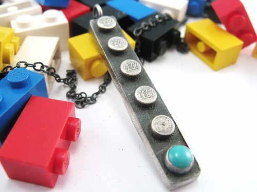 1X6 Building Block Pendant | by rubygirl jewelry