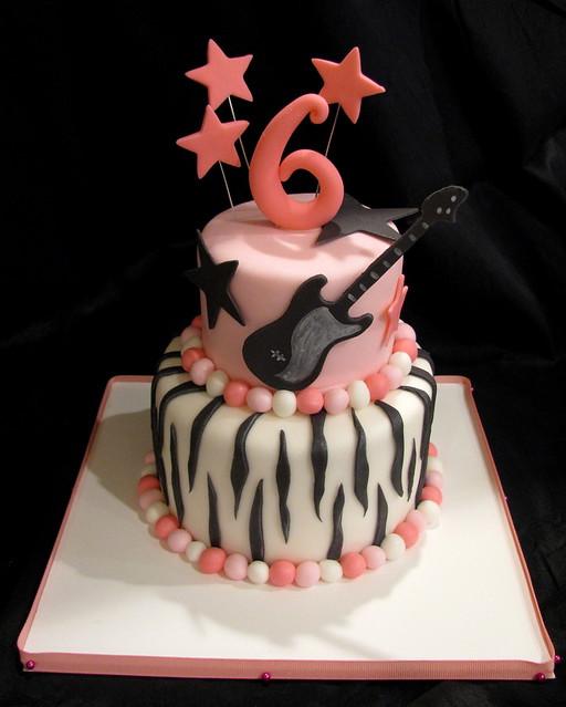 Terrific Rock Star Birthday Cake Jasmine Clouser Flickr Funny Birthday Cards Online Kookostrdamsfinfo