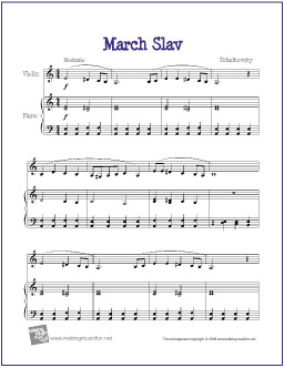 Marche Slave (Tchaikovsky) | Free Sheet Music for Easy