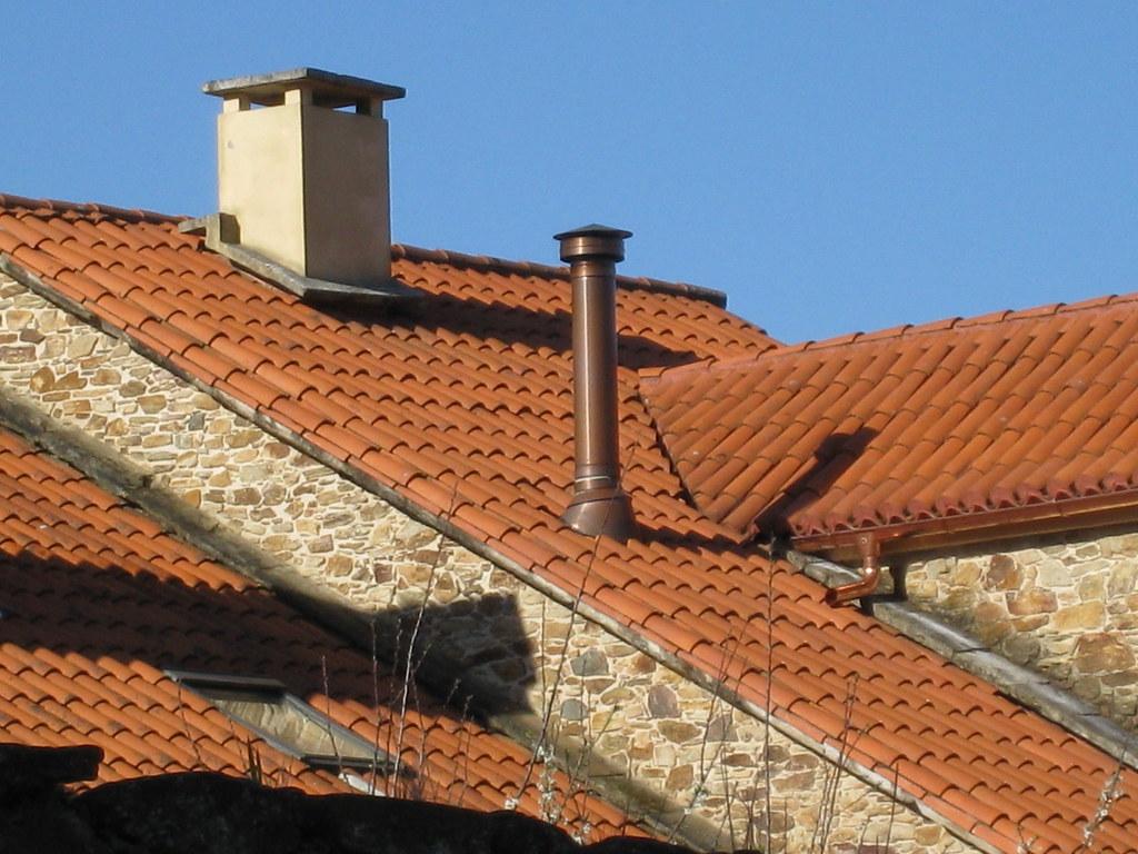 Salida de chimenea a tejado