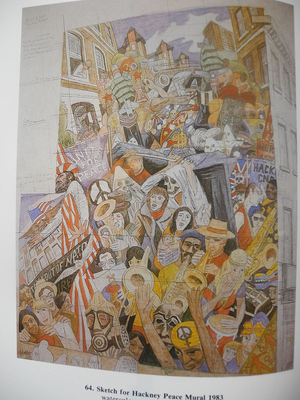 Sketch of the Hackney Peace Mural 1983