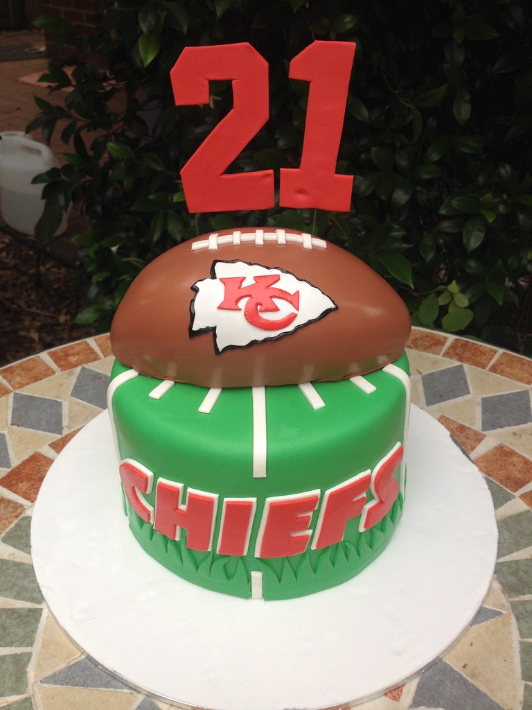Incredible Kansas City Chiefs Cake Cakes For Ruby Flickr Funny Birthday Cards Online Overcheapnameinfo