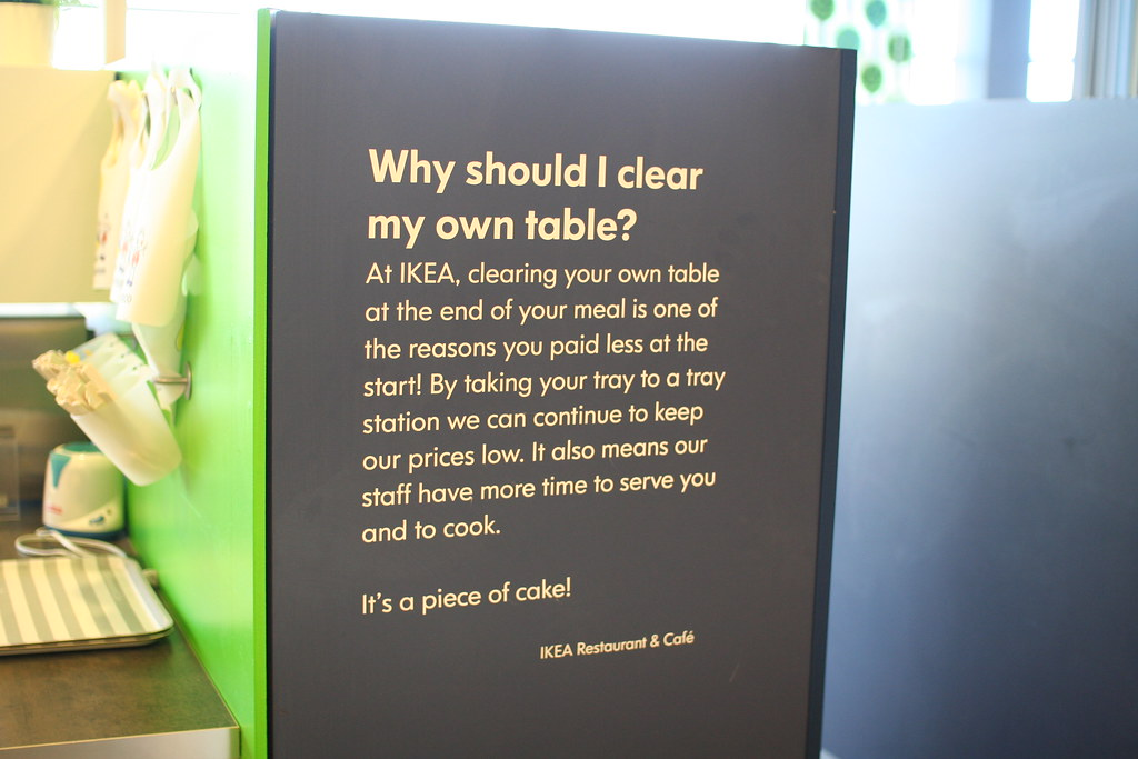 Bus Your Own Cafeteria Admonishment In The Ikea In Frisco Flickr
