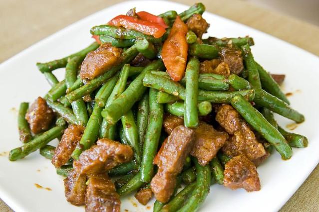 Crispy Pork in Prik Khing Curry | Chao Thai, 8503 Whitney Av… | Flickr
