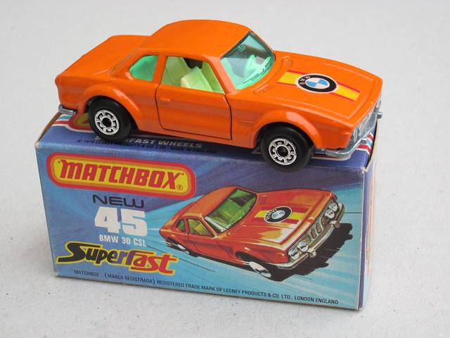 Matchbox Superfast BMW 3.0 CSL In Orange 1970's Retro Toy