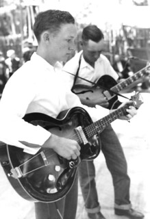 Bell School FFA String Band performing at the 1959 Florida Folk Festival- White Springs