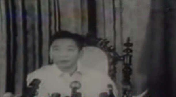 Screenshot of President Marcos' Report to the Nation two years after the proclamation of Martial Law.