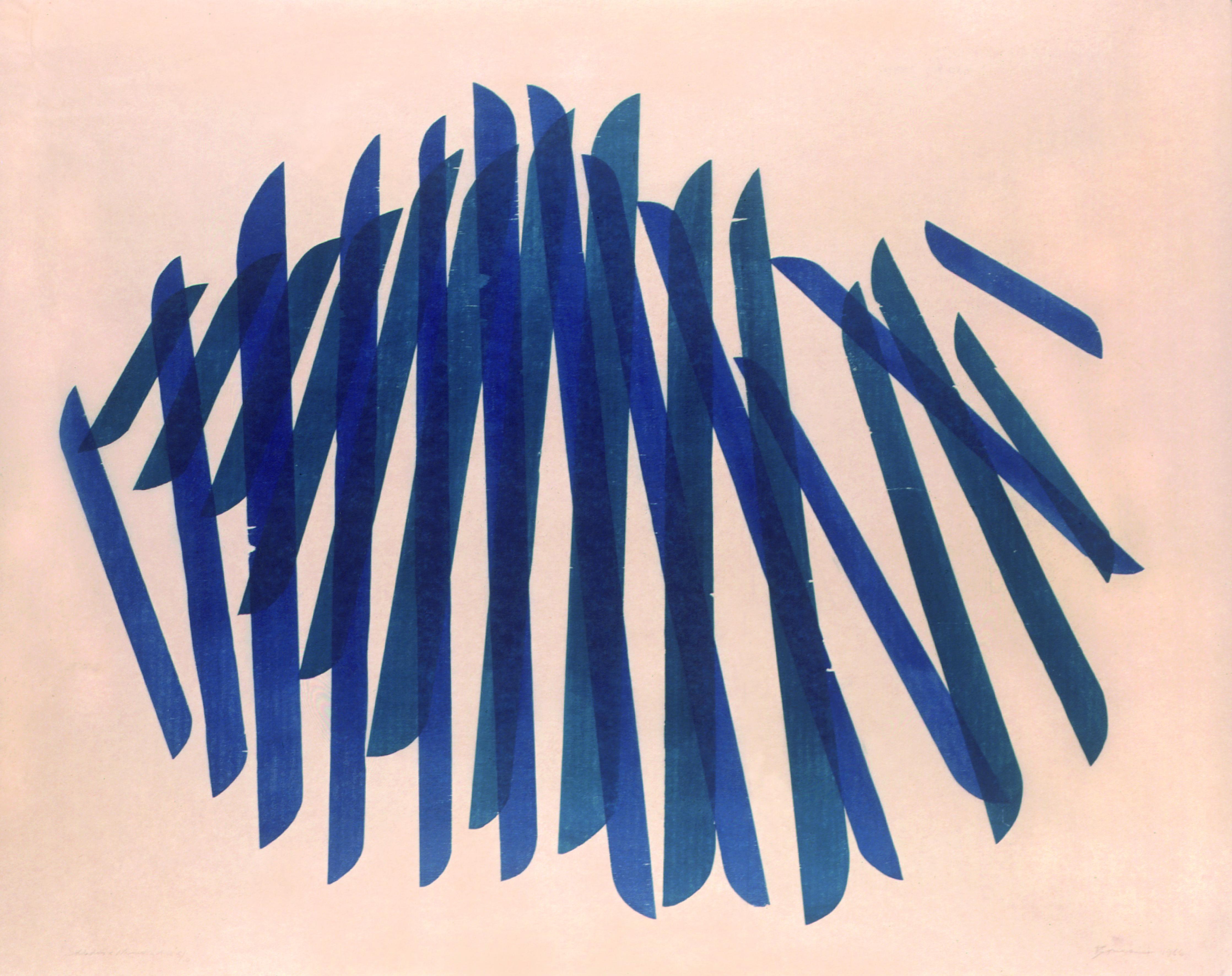 Soldados e Namorados      Autor: Maria Bonomi Ano: 1966 Técnica: Litogravura Dimensão: 96cm x 121cm