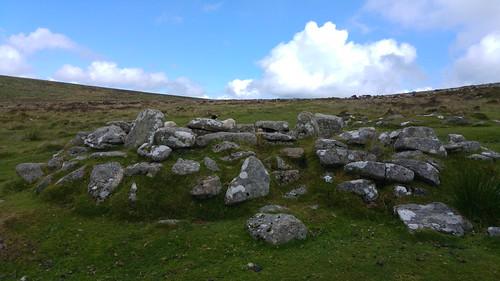 Reconstructed hut circle at Grimspound, Dartmoor, Devon | by pluralzed