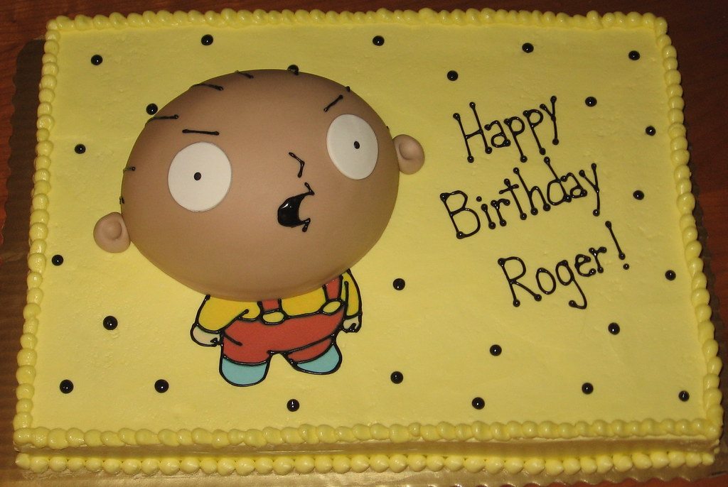 Sensational Stewie Griffin Family Guy Cake Happy Birthday Roger His Flickr Personalised Birthday Cards Veneteletsinfo