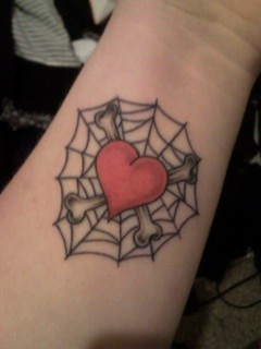 heart web tattoo | by thatemmzgirl