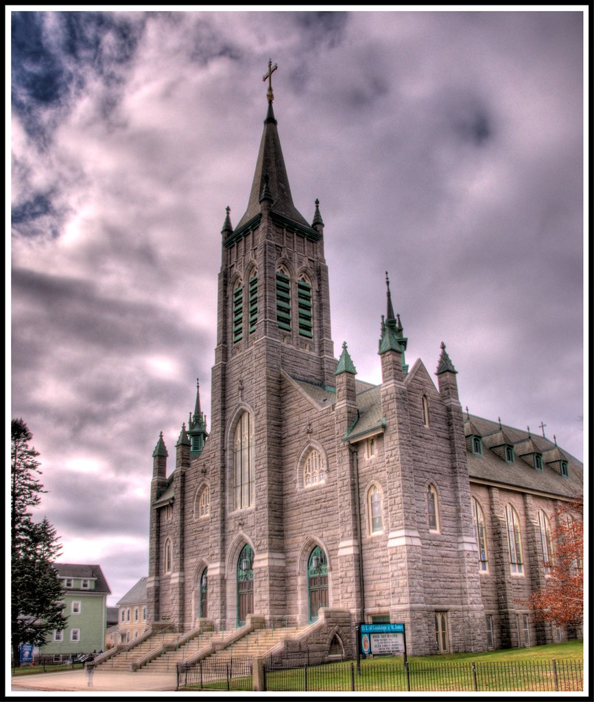 The parish church of St James, New Bedford, Mass  -- HDR