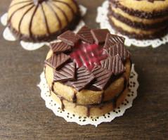 Miniature Chocolate and Raspberry Cake | by PetitPlat - Stephanie Kilgast