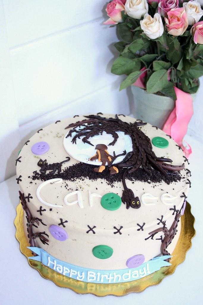 Fine Coraline Birthday Cake Polkadots Olga Flickr Funny Birthday Cards Online Inifodamsfinfo