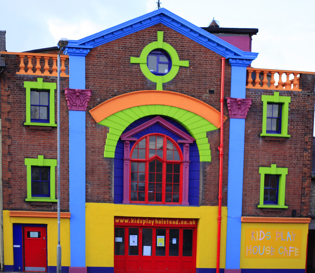 The Coloured House.Multi Coloured House Of Fun I Didn T Have The Right Lense