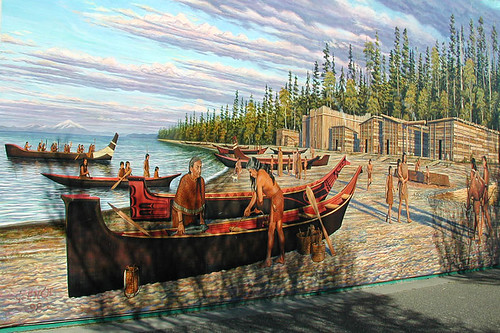 Mural on the Waterfront in Port Angeles, Olympic Peninsula, Washington, USA