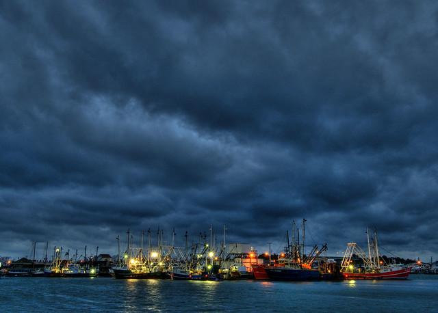 Cape May Commercial Fishing Fleet at Dawn