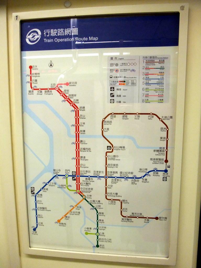 MRT Taipei Train Operation Route Map 台北捷運行駛路網圖| 1000V See