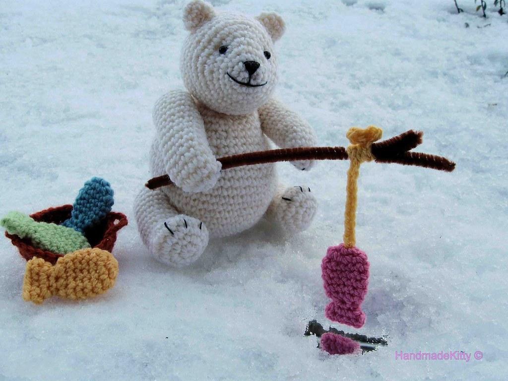 Crochet polar bear amigurumi polar bear knit polar bear | Etsy | 768x1024