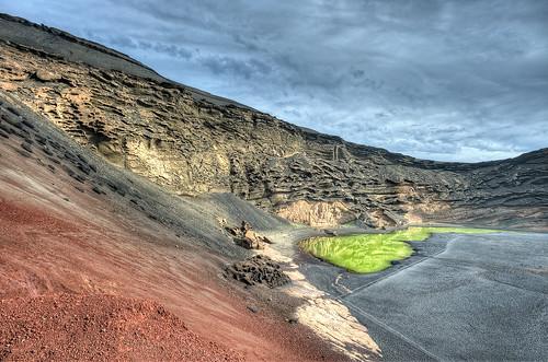 Green Lagoon – Laguna Verde, Charco de los Ciclos, El Golfo, Lanzarote HDR | by marcp_dmoz