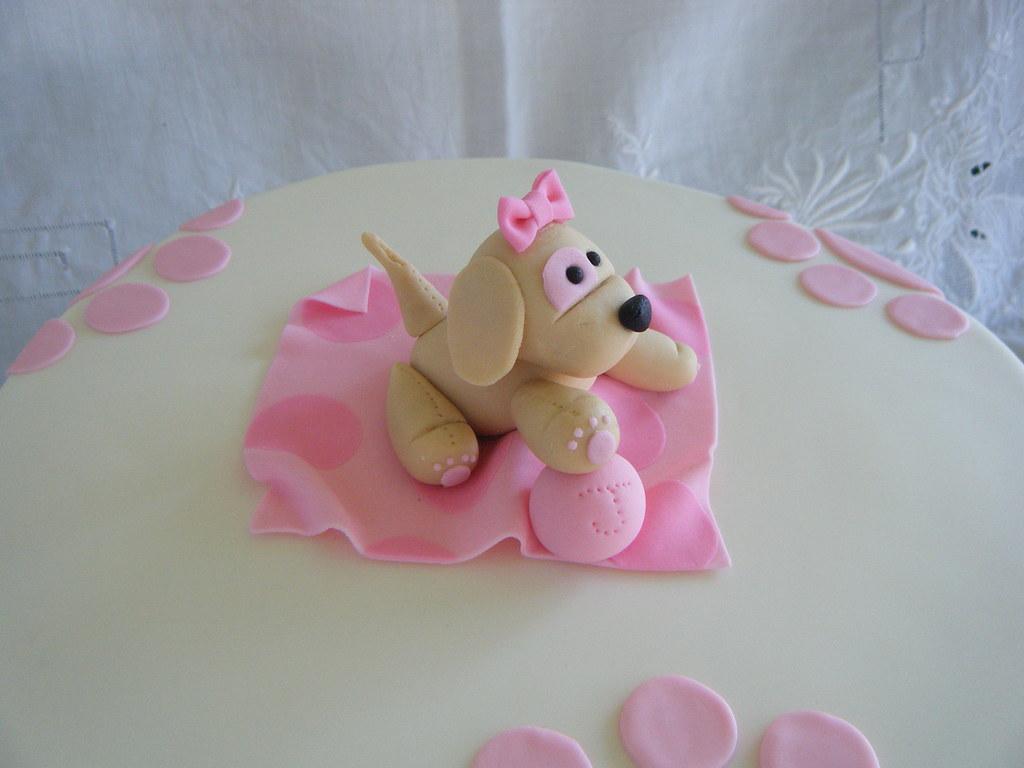 Wondrous Puppy Themed 1St Birthday Cake Puppy Themed 1St Birthday C Flickr Funny Birthday Cards Online Drosicarndamsfinfo