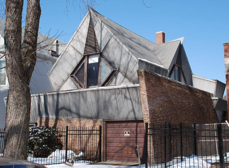 Bachman House (1948), by Bruce Goff (east side)
