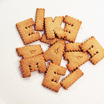 letter biscuits