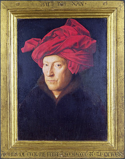 Jan van Eyck 1433 - Self-portrait (with frame) | by petrus.agricola