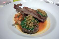 convivio scottadito di agnello; grilled lamb chops, salsa verde, escarole | by goodiesfirst