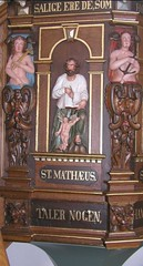 Prædikestol i Sædder Kirke - detalje