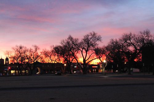 sunrise texas bright fiery lubbock