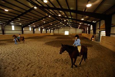 Indoor riding arena   Indoor riding arena at Earlham College