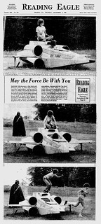 Ad - Reading Eagle - May the Force be with you - custom scale X-Wing model - 1981-09-03