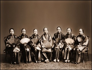 Group Of Chinese Women With Fans, Canton, China [c1880] Afong Lai [RESTORED] | by ralphrepo
