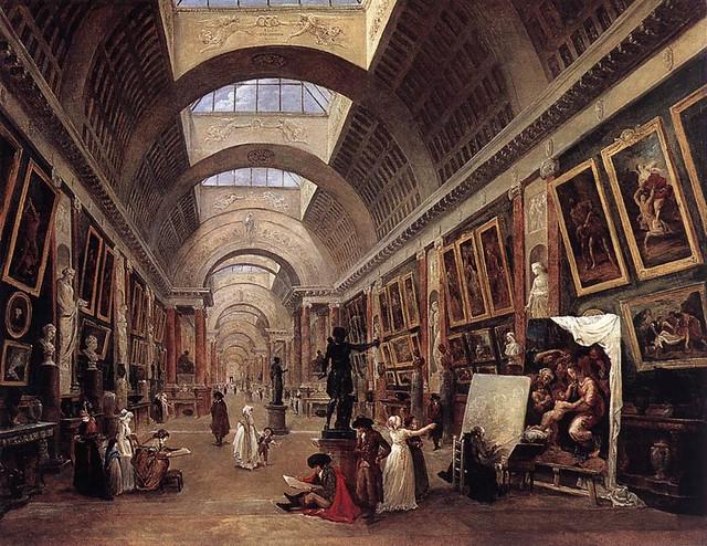 Robert, Hubert (1733-1808) - 1796 Design for the Grand Gallery in the Louvre (Louvre, Paris)