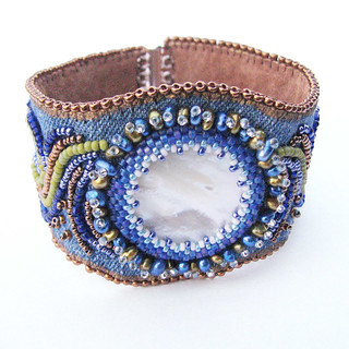 Beaded Cuff Moon Over Stormy Waters3 | by Sylvia Windhurst