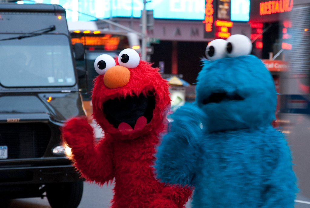 Elmo and Cookie Monster | Sesame Street characters Elmo and