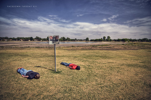 lake face field grass sign clouds swimming high nikon dynamic no down tokina drought tuesday 365 range hdr highdynamicrange noswimming laying layingdown facedown photomatix project365 1116mm d300s facedowntuesday