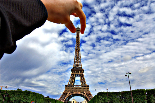 holding the eiffel tower | by vl8189