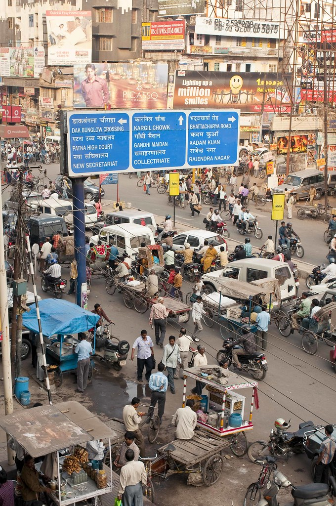 Patna, capital of Bihar, is among the most polluted cities in the world. Photo by Padmanaba01/Flickr.