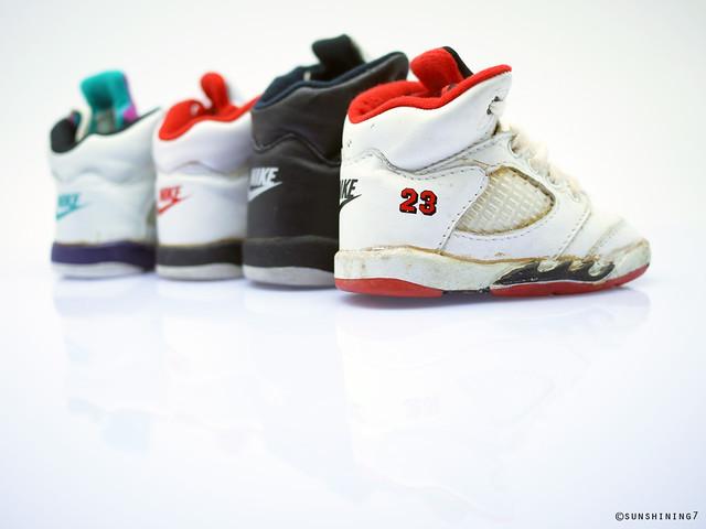 Sunshining7 Nike Air Jordan V (5) 1990 Baby Jordan Set