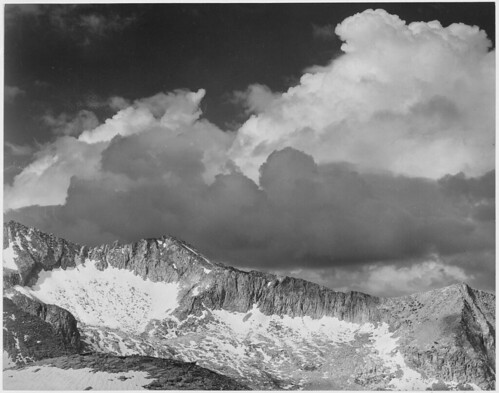 """Clouds - White Pass, Kings River Canyon (Proposed as a national park),"" California, 1936. 