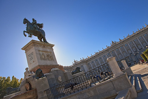 Madrid. Oriente square. Equestrian statue of Felipe IV. Spain | by Tomás Fano