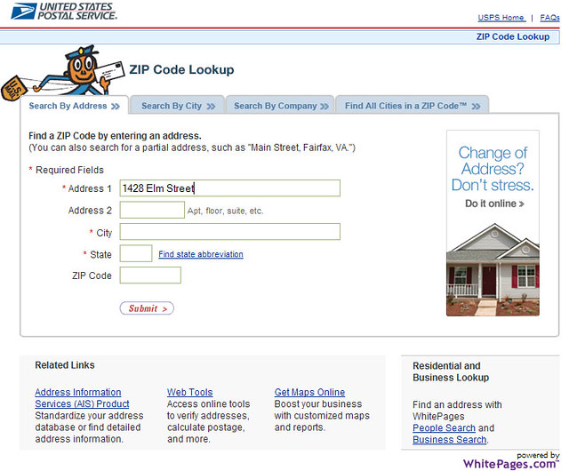 zip code usps search