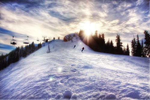 Last Run of the Day, Aspen Highlands, CO | by WanderingtheWorld (www.ChrisFord.com)