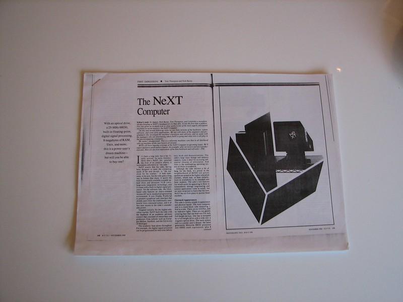 Copy of Byte Nov 1988 Article on NeXT
