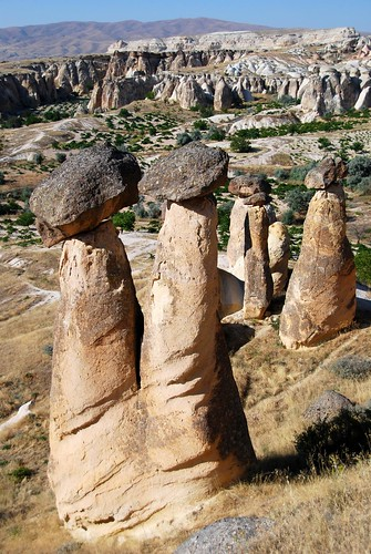 mushroom-shaped fairy chimneys, capadoccia | by hopemeng